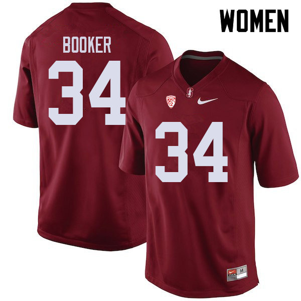 Women #34 Thomas Booker Stanford Cardinal College Football Jerseys Sale-Cardinal
